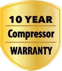 10 Year Compressor Warranty