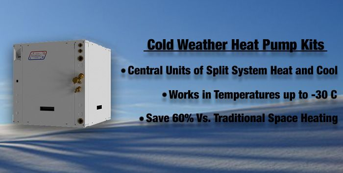 Cold weather heat pump kits