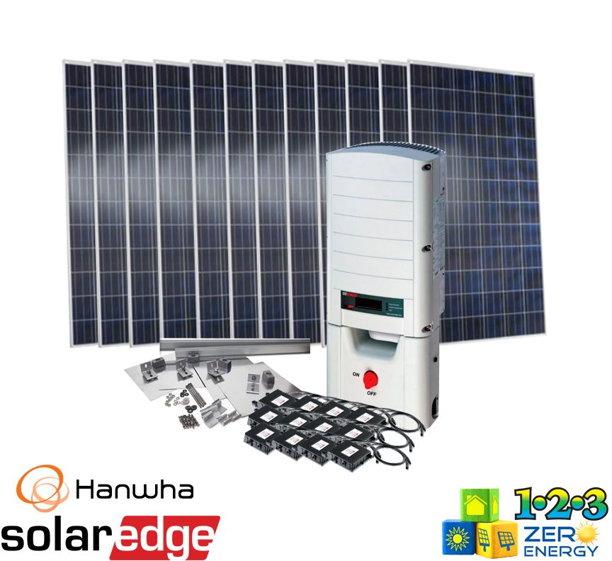 3720 Watt On Grid Solar PV Package - SolarEdge