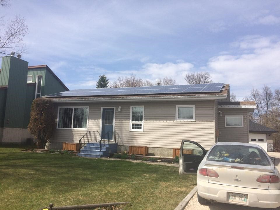 Residential Solar Project in Gimli