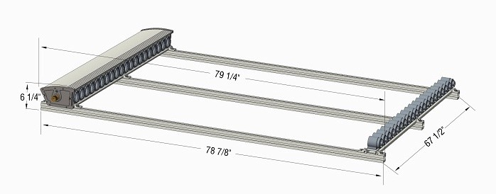 Roof Mount 20 Tubes Dimensions