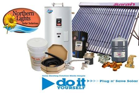 SWH-4 Solar Hot Water Heating Package - DIY Solar Kits