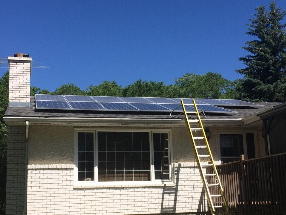Residential Solar Project in Stonewall